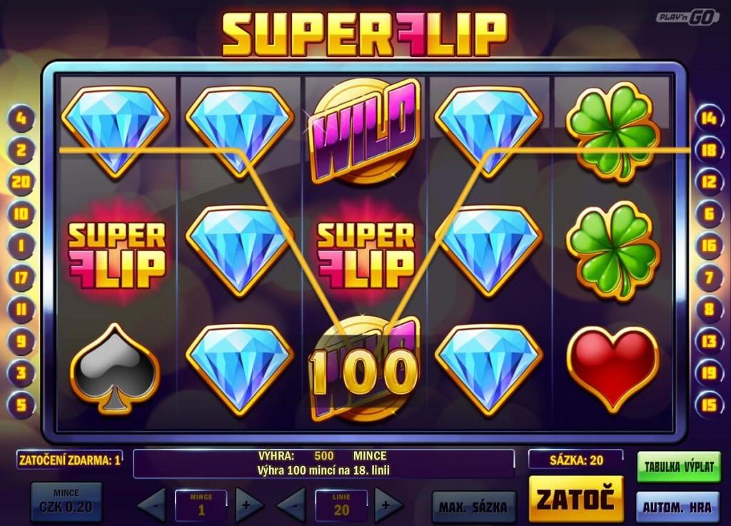 Bohemia casino automat SuperFlip