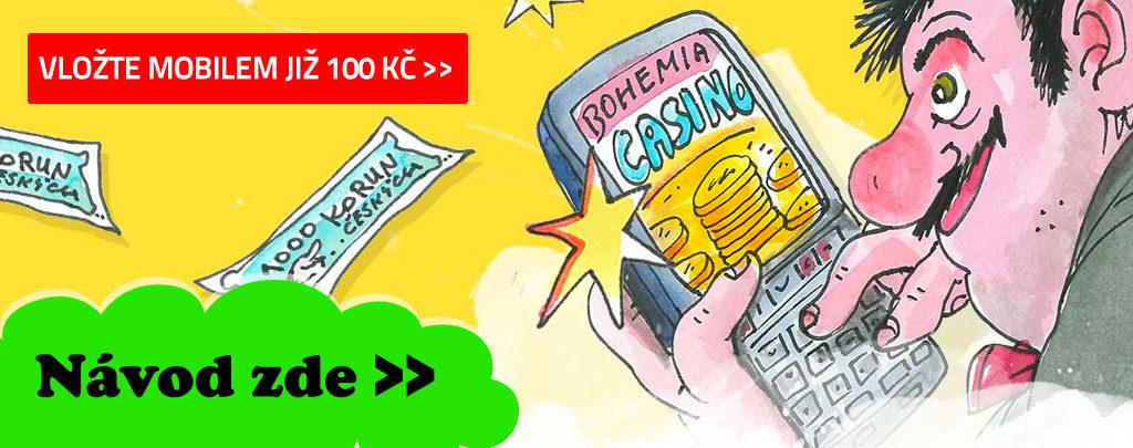 Návod na používání mobilu Bohemia casino