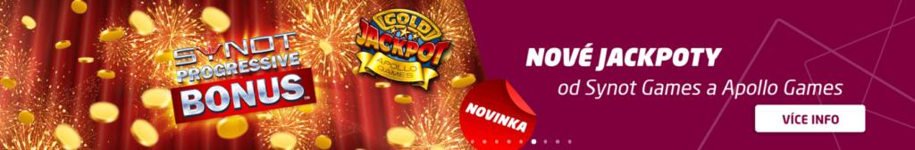 SynotTip casino - nové Apollo a Synot jackpoty